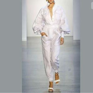 NWT ZIMMERMANN High-neck Linen Tapered Jumpsuit